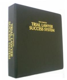 Trial Lawyer Success System (spine view)